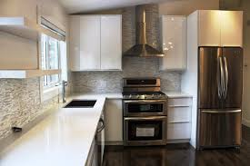 image of modern high gloss white kitchen cabinets