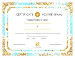 Free Vow Renewal Certificates: Download, Print Today! - Idostill.com