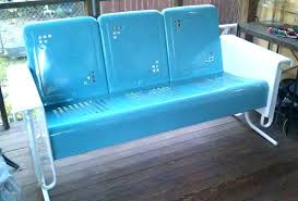 ideas vintage metal patio furniture and porch gliders full size of chairs antique glider cushions