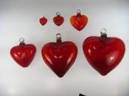 mexican blown glass hearts made in mexico with recycled glass red hearts mexican blown glass hearts red heart l 10 inches mexican blown glass
