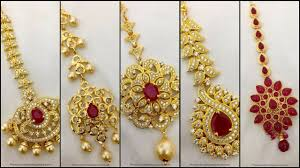 Gold Nethichutti Designs With Price Latest Tikka Designs Latest Nethichutti Designs Video