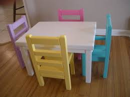 unique american girl doll table and chairs