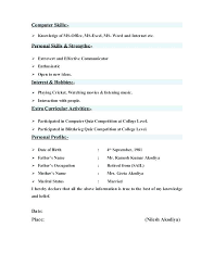 Ms Office Skills Resume Microsoft Office Resume Template Templates Ms Word Download Simple