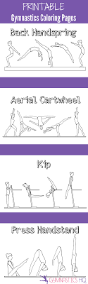 Small Picture Printable Gymnastics Coloring Pages 5 pages of gymnastics skills