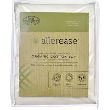 allerease 100 organic cotton top cover waterproof mattress pad mattress cover waterproof t84 cover