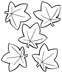 Small Picture Fall Leaf Template Coloring Coloring Pages