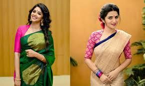 U Neck Saree Blouse Design 35 Stylish High Neck Blouse Designs For Pattu Sarees Bling