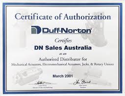 steel industry solutions duff norton duffnortoncertificateofauthorisation · ptlinkcertificateofauthorisation