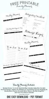 Family Birthday Calendar Template Free Printable Planner Blank ...