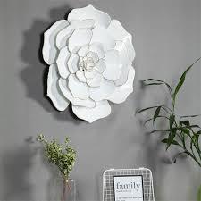 luxen home 24in diameter white flower