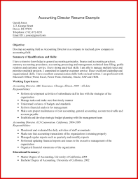 Fresh Accounting Resume Objective Examples Wing Scuisine