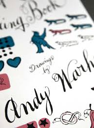 a coloring book drawings by andy warhol thames hudson london 2011
