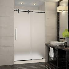 frosted shower doors. Aston Langham 48 In. X 36 77.5 Frameless Sliding Shower Frosted Doors O