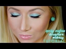 eyeshadow easy spring seafoam green makeup tutorial