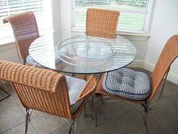 wicker and glass dining table designs