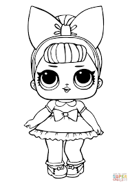 Fancy Glitter Lol Surprise Doll Coloring Page Free Printable