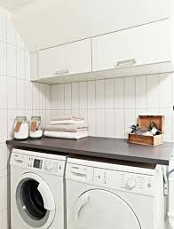 Laundry Room: White Laundry Room Design With Small Space Solutions -  Furniture