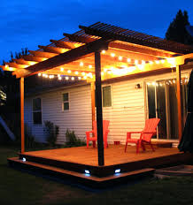 porch patio string lights patio deck lighting solar outside patio string lights awesome pergola deck with wraparound step and strand lighting it also has