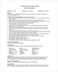 Duties And Responsibilities Of A Cna Cna Job Duties Cna Job Duties Resume Description For