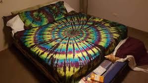 tie dye bedding spiral doona cover