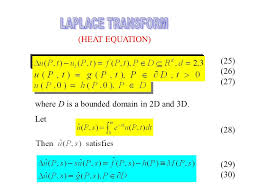 laplace transform heat equation consider the bvp 25 26