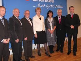 ... Landratskandidat Günter Frenz, Erika Steinbach MdB, CDU-Parteivorsitzende Birgit Behr, Aloys Lenz MdL, CDU-Kreisvorsitzender Tom Zeller - 156