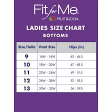 Fruit Of The Loom Lady Fit Size Chart Womens Plus Assorted Lightweight Microfiber Brief Panties 6 Pack
