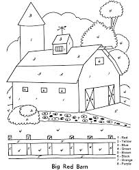 Good Barn Coloring Pages To Print And Coloring Pages Barn Coloring