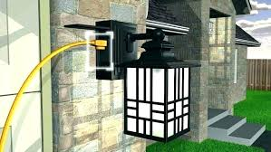 plug in outdoor light fixtures home and interior astounding outdoor light fixture with led wall lantern from plug in outdoor light fixtures