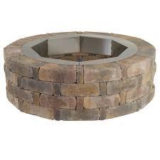 pavestone rumblestone 46 in x 14 in round concrete fire pit kit no