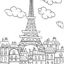 Small Picture Eiffel Tower and Firework Coloring Page Eiffel Tower and Firework