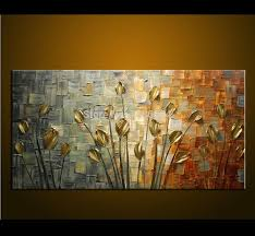 US $42.0 |hand made Oil <b>Painting</b> Palette knife Thick Paint <b>Golden</b> ...