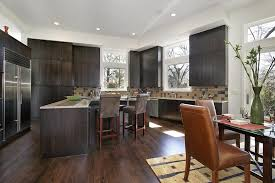 modern black kitchen cabinets. Modern Dark Kitchen Cabinets With Hardwood Floors Black