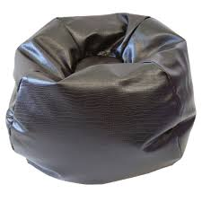 snakeskin bean bag brown xl