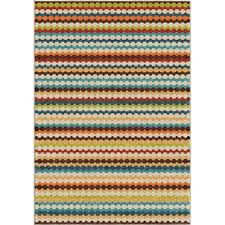 orian rugs jumping jack multi striped 8 ft x 11 ft indoor outdoor area rug 284171 the home depot
