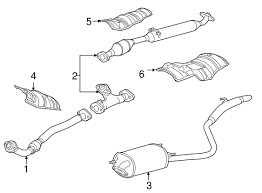 genuine oem exhaust components parts for 2005 toyota sienna ce 2002 toyota sienna exhaust diagram at Sienna Exhaust Diagram