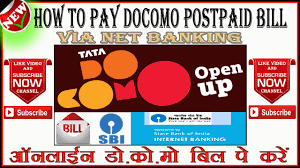 how to pay tata docomo postpaid mobile bill via net banking ह द उर द
