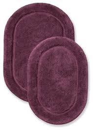 plum 2 bathroom rug set