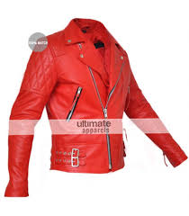classic diamond men s red armored motorcycle leather jacket