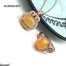 kjjeaxcmy boutique jewelry choi po jewelry 925 silver inlaid natural beeswax simple and generous whole