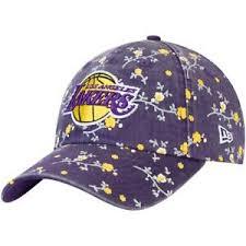 Details About Los Angeles Lakers New Era Womens Team Blossom 9twenty Adjustable Hat Purple