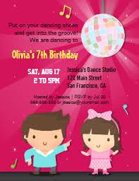 Kids Dance Party Invitations Announcements Zazzle Uk