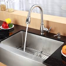 Farmhouse Style Kitchen Sinks Kitchen Faucets Farmhouse Kitchen Faucet With Kraus Commercial