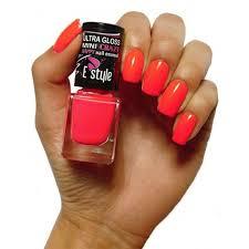 E Style Mini Crazy Nail Enamel Rychleschnoucí Lak Na Nehty Neon Růžový 30 Flower 7ml