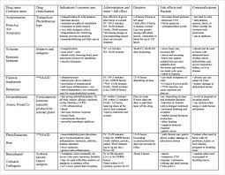 Drug Chart Sample Drug Classification Chart 7 Documents In Pdf