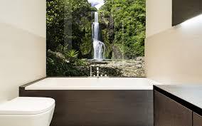 Printed Images On Glass Kitchen Splashbacks And Glass Wall Art - Bathroom splashback