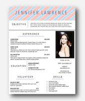 Resume Template Jennifer Lawrence Instant Download by ClassyWomanBoutique  Etsy | Organized Is My Middle Name | Pinterest
