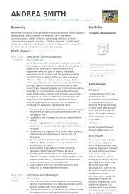Director Of Communications Resume Samples VisualCV Resume Samples Inspiration Communications Manager Resume