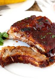 instant pot ribs on a white plate