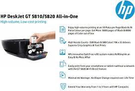 Small Picture HP Deskjet GT 5820 Wireless Printer Buy HP Deskjet GT 5820